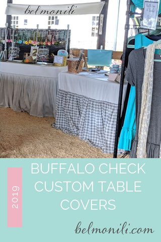 bel monili custom table cloth for craft shows