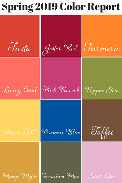 Pantone Spring 2019 Color Report, Pantone Summer 2019 Color Report, Spring 2019 Fashion Trends