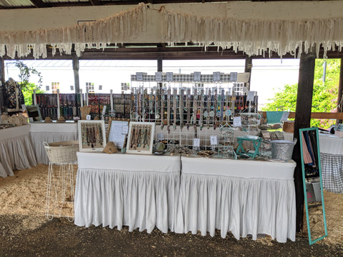 bel monili booth at the country living fair, craft show booth design, art show booth design