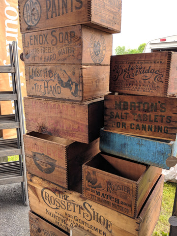 vintage crates, country living fair rhinebeck