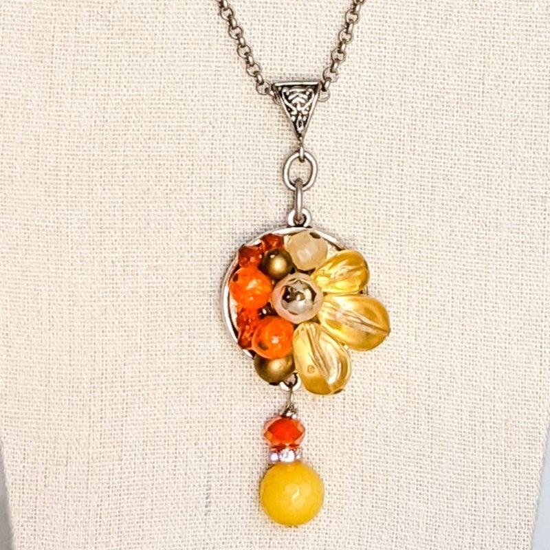 Autumn Bit of Bling Necklace