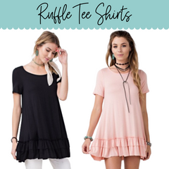 Ruffle Tee Shirt Sizes S-3X