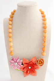 Peachy Pink Perfection Collage Necklace