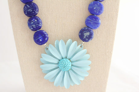 Blue Skies Necklace - bel monili, Pittsburgh PA, country living fair, vintage market days