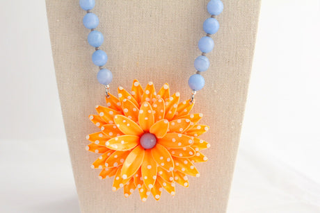 Tangerine Dream Daisy Necklace - bel monili, Pittsburgh PA, country living fair, vintage market days