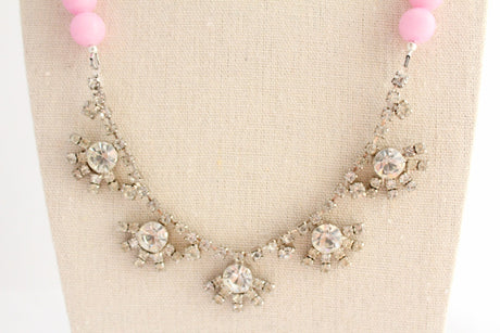 Think Pink Statement Necklace - bel monili, Pittsburgh PA, country living fair, vintage market days