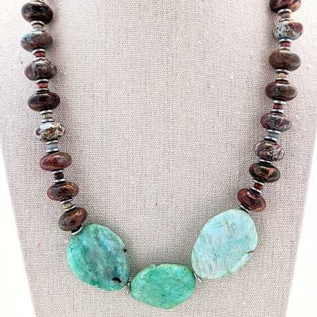 African Turquoise and Amazonite Necklace