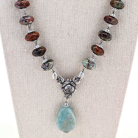 Amazonite and African Turquoise Necklace