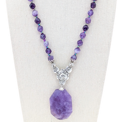 Amethyst Sparkle Pendant Necklace