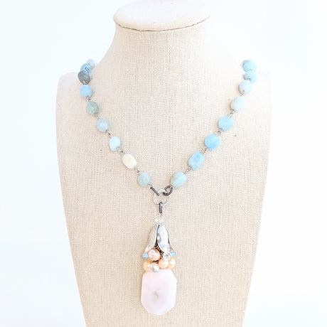 handmade aquamarine necklace