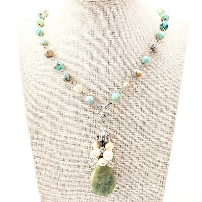 amazonite pendant necklace