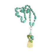 olive jade, howlite necklace