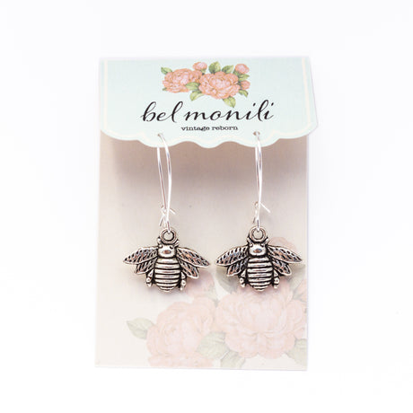 bee earrings, honey bee earrings