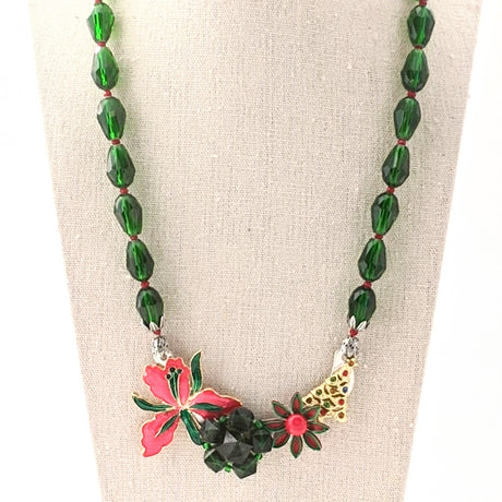 Christmas Collage Necklace (CC9)