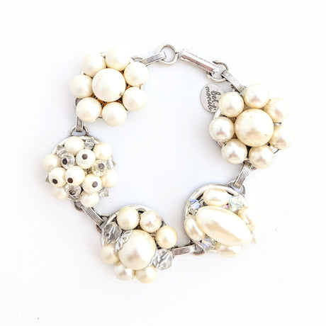 pretty pearl and crystal bracelet