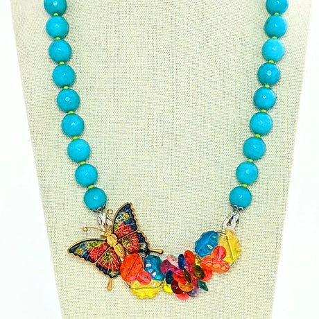candy colored vintage necklace