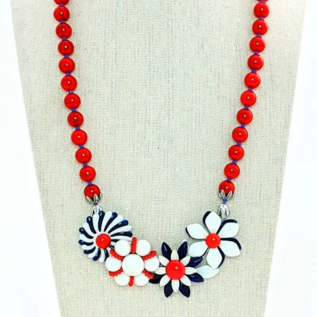 vintage nautical statement necklace