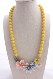 Pastel floral collage necklace - bel monili, Pittsburgh PA, country living fair, vintage market days