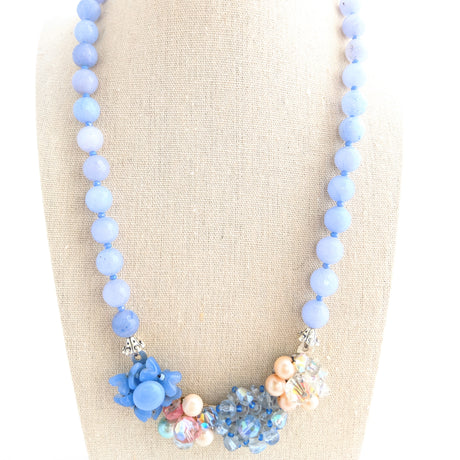 Periwinkle Pastel Collage Necklace (Collage 72)