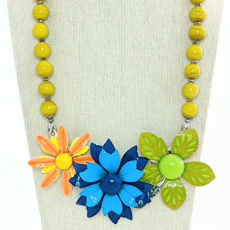 bel monili bold collage statement necklace