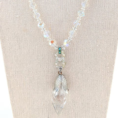 Vintage Crystal Pendant Necklace