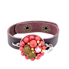 Cranberry Red Bauble Cuff