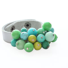 Bauble Leather Cuff 77