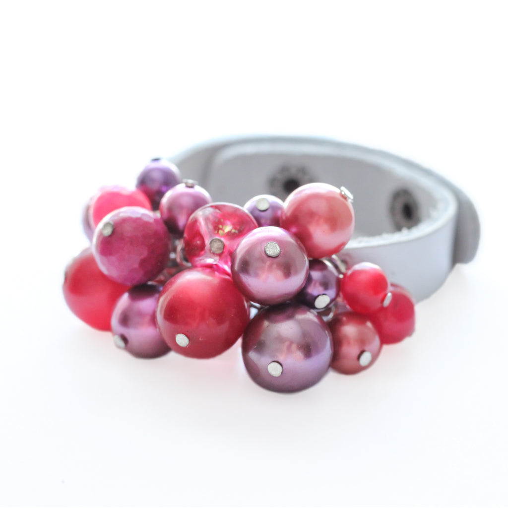 Bauble Leather Cuff 82