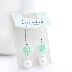 mint green earrings