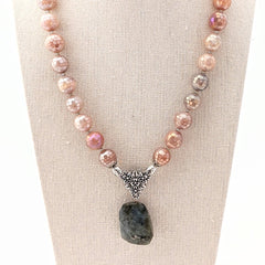 sunstone gemstone necklace