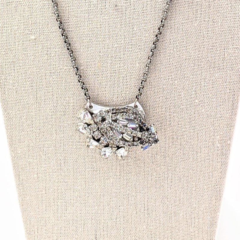 bel monili mini rhinestone collage necklace