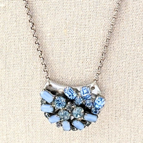 blue rhinestone mini collage
