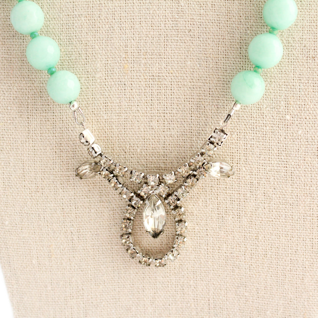 Minty Fresh Sparkle Statement Necklace