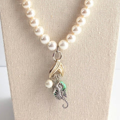 Pearl Mermaid Beaded Necklace
