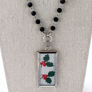 Christmas Hankie Necklace (CH14)