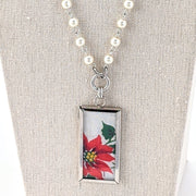 Christmas Hankie Necklace (CH28)