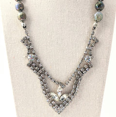 Labradorite Rhinestone Statement Necklace (rhinestone 39)