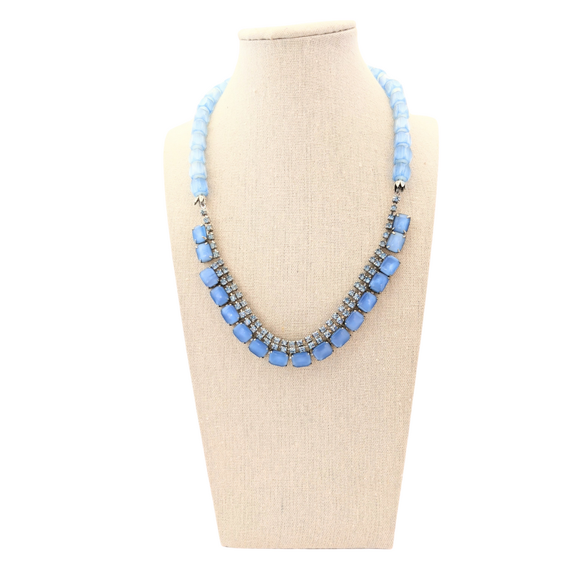 Singin' the Blues Vintage Rhinestone Necklace