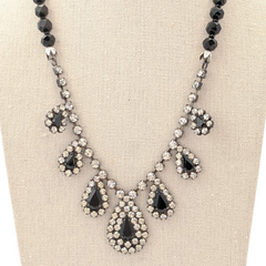 Black Tie (Optional) Vintage Rhinestone Necklace