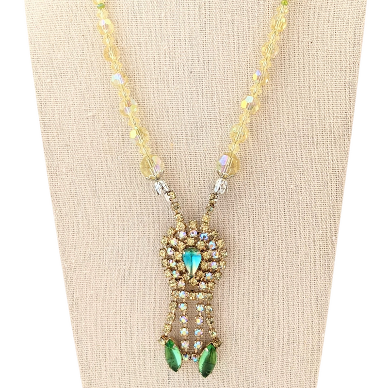 Mellow Yellow Vintage Rhinestone Necklace