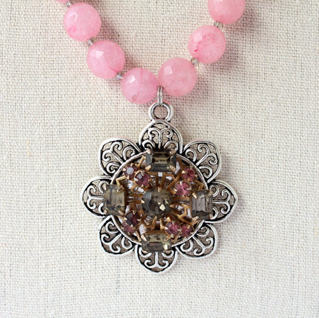 Beaded Pendant 13 - bel monili, Pittsburgh PA, country living fair, vintage market days