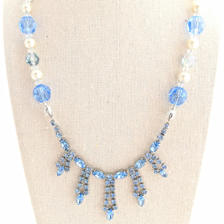 blue rhinestone necklace