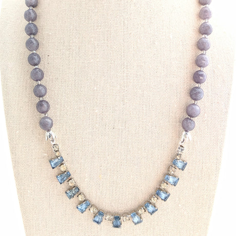 gray rhinestone necklace