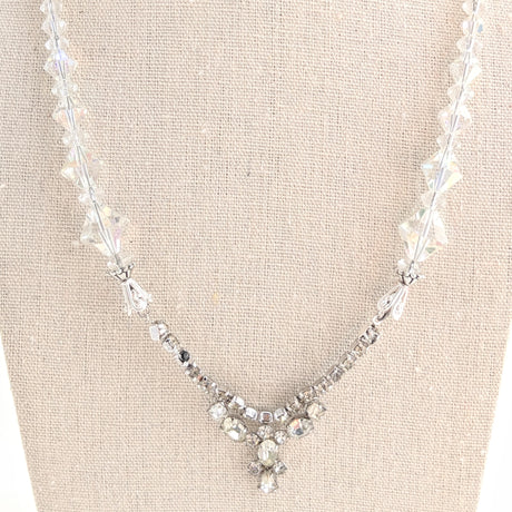 vintage crystal necklace