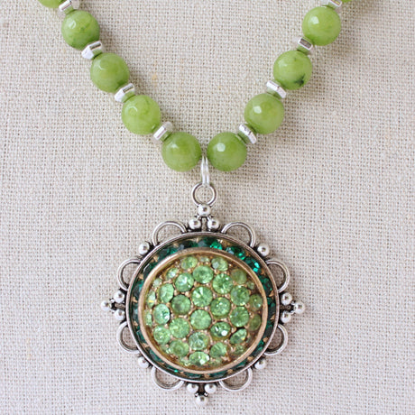 Beaded Pendant 42 - bel monili, Pittsburgh PA, country living fair, vintage market days
