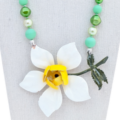 Summer Bloom Vintage Flower Necklace