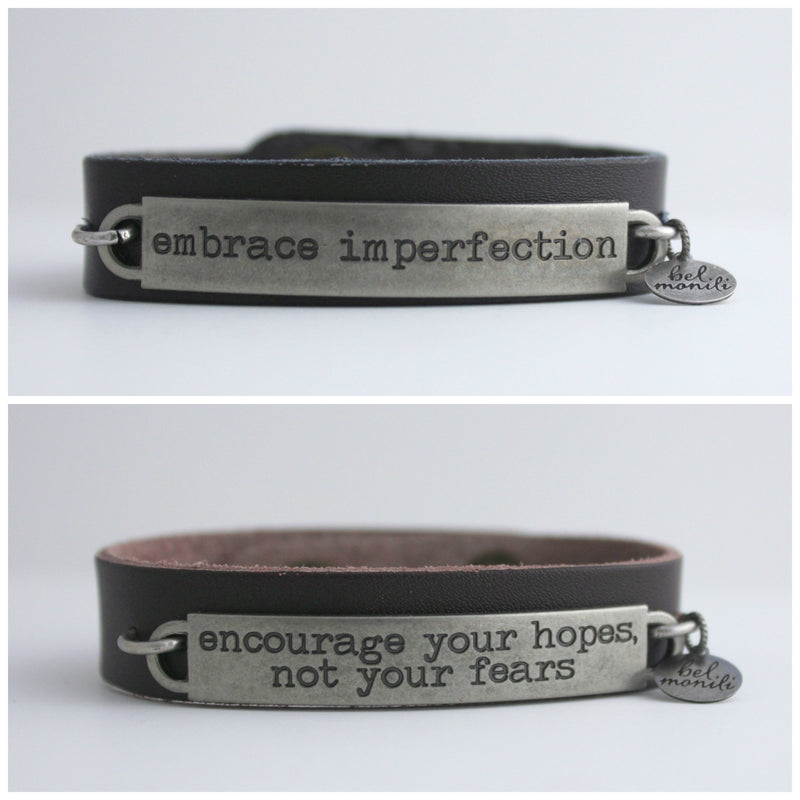 Wholesale Package: Inspirational Quote Cuffs - bel monili, Pittsburgh PA, country living fair, vintage market days