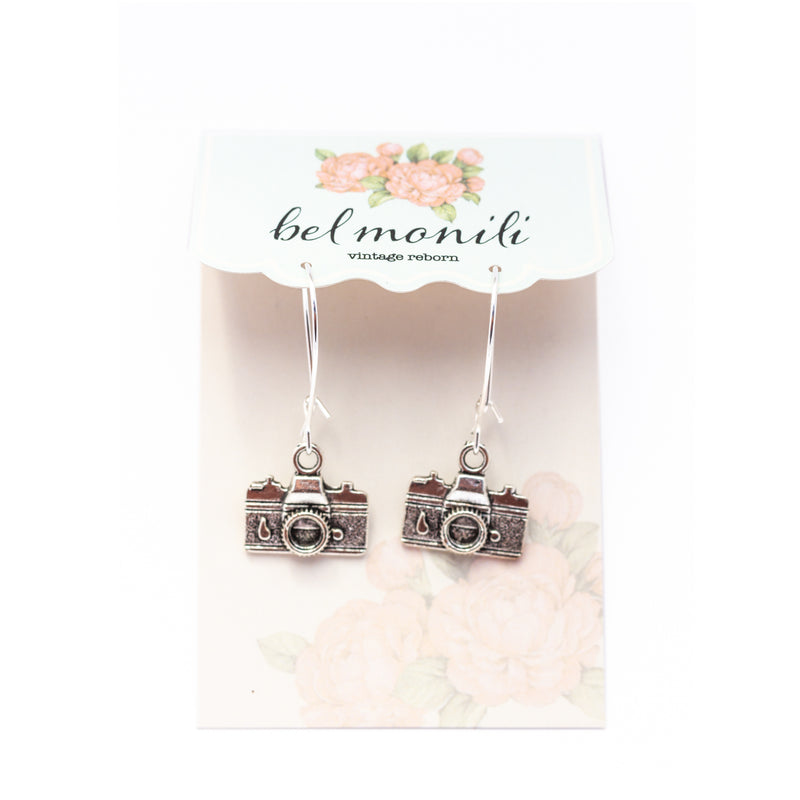 camera earrings, wedding photographer gift
