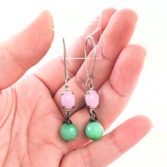 Two Tone Blingy Earrings (multiple colors available)
