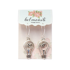 light bulb earrings, edison bulb earrings